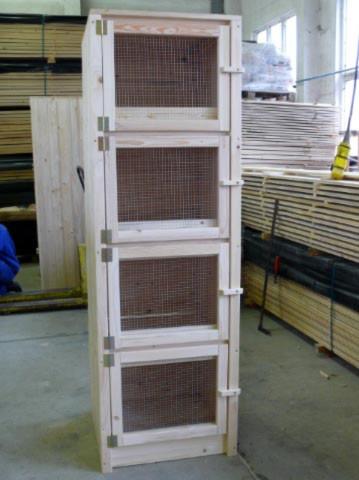 4er (übereinander) Kaninchenstall Standard